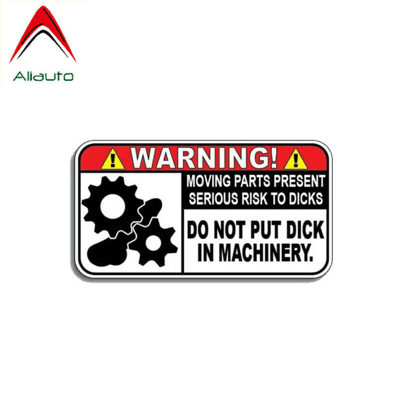 Aliauto Warning Car Sticker Do Not Put Dick In Machinery Decal Accessories PVC for Mazda Subaru Golf 4 Mini Cooper Kia,11cm*6cm