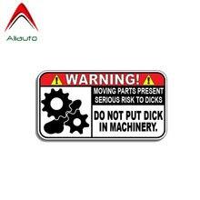 Aliauto aviso etiqueta do carro não colocar pau na maquinaria decalque acessórios pvc para mazda subaru golf 4 mini cooper kia, 11cm * 6cm