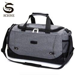 Scione الرجال حقيبة سفر سعة كبيرة اليد الأمتعة السفر حقائب قماش النايلون عطلة نهاية الأسبوع حقائب النساء متعددة الوظائف السفر