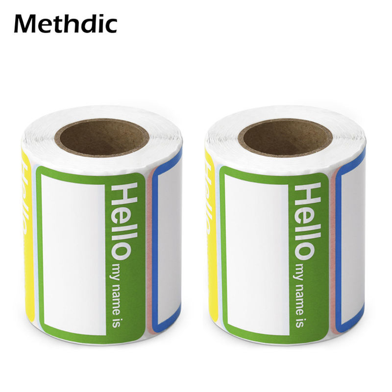 Methdic Christmas Name Tags Stickers Roll 120 Labels for Gift Boxes