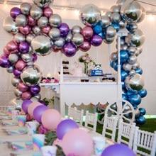 Ballons en Latex en métal or argent, 18 30 40 50 60 70 ans, nombre, décor de fête d'anniversaire joyeux, cadeaux en aluminium pour adultes