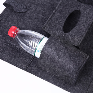 Image 5 - Organizador Universal para almacenaje para asiento trasero de coche, bolsa de almacenamiento de fieltro elástico para maletero, organizador con 6 bolsillos, accesorios para coche colgantes, 1 ud.
