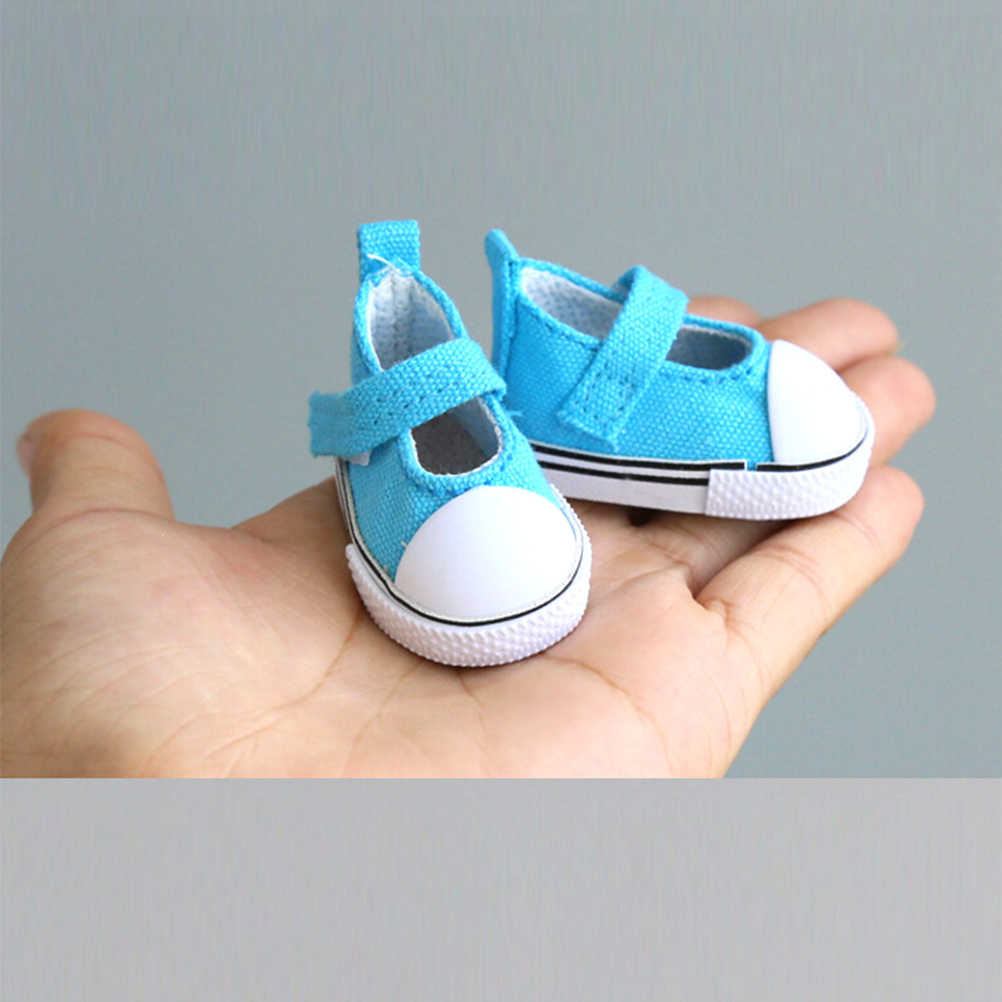 5cm Doll Accessories Sneakers Shoes for dolls,Fashion Mini Canvas Shoe JKUS