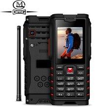 """Ioutdoor ip68 مقاوم للماء للصدمات لوحة مفاتيح روسية الهاتف المحمول 4500mAh 2.4 """"لاسلكي الاتصال الداخلي في الهواء الطلق هواتف محمولة FM"""