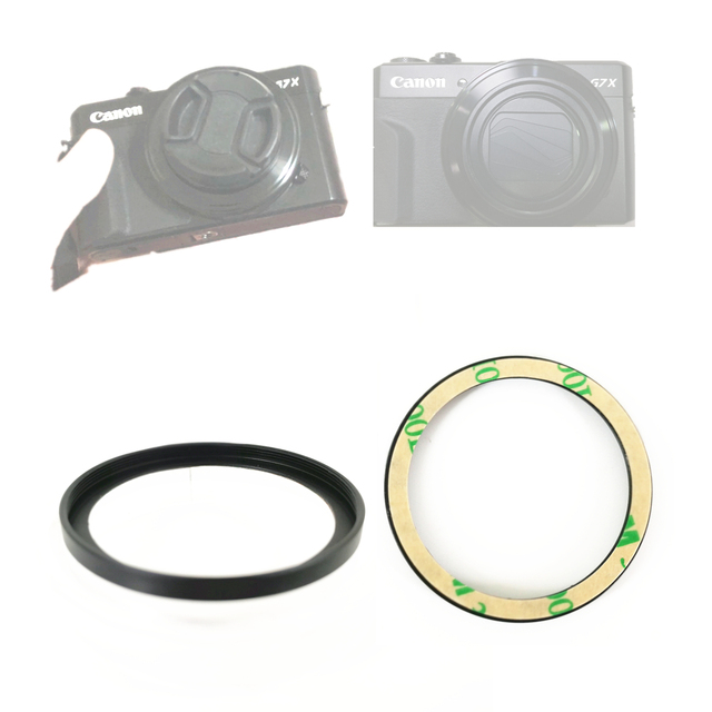 40.5mm Metal Filter Ring Adapter for Canon G9X G7X Mark III II G5X G5XII C LUX Camera