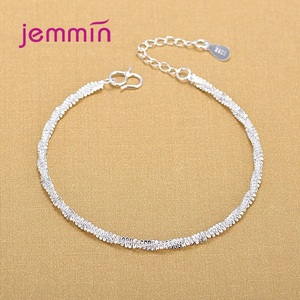 Fashion Twisted Wave Hand Chain Bracelets for Woman Girls S925 Sterling Silver Wristband Bridal Wedding Jewelry Gifts