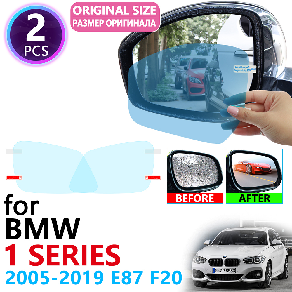 for BMW 1 Series E87 F20 F21 116i 118i 120i 125i 130i M 2005~2019 Full Cover Rearview Mirror Rainproof Anti Fog Film Accessories image