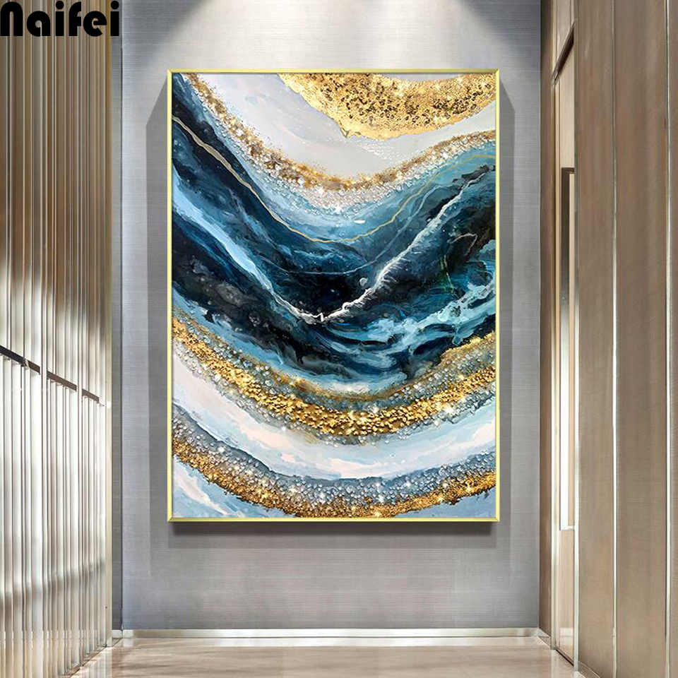 Abstract Line Waves 5d Diy Diamond Painting Cross Stitch Full Square/Round Mosaic Diamond Embroidery Wall art Home Decor