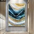 Абстрактная линия волн 5d Diy Алмазная картина вышивка крестиком полностью квадратная/Круглая Мозаика Алмазная вышивка настенный Декор для д...