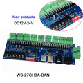 DC12V-24V  27 каналов DMX512 декодер серии  с XRL 3P RJ45 27CH led RGB контроллер для светодиодной ленты Светодиодная лампа