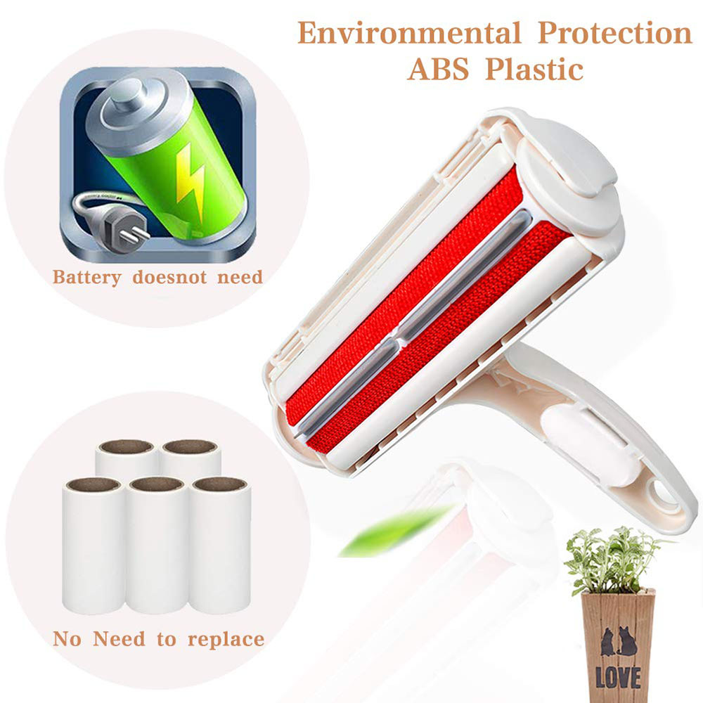 Pet Hair Remover Roller Dog Cat Hair Cleaning Brush Removing Dog Cat Hair From Furniture Carpets Clothing Self-Cleaning Lint-1