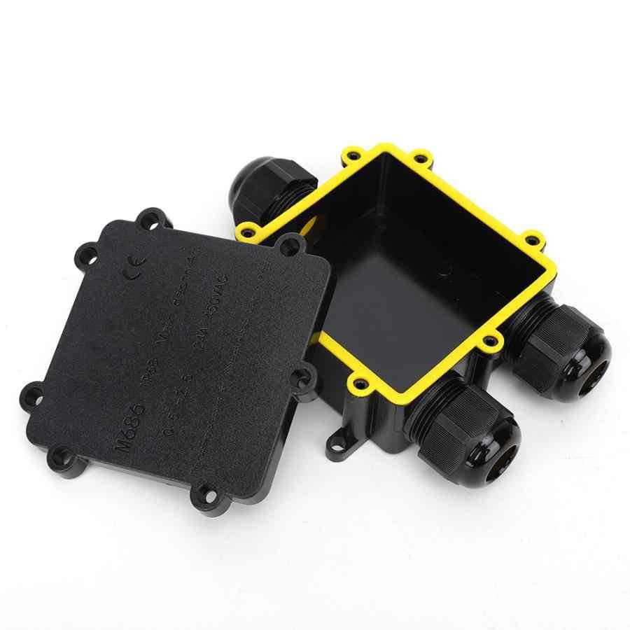 Plastikowy wodoodporny pokrywa DIY projekt obudowa oprzyrządowania obudowa elektryczna M686 IP68 kabel do zastosowań zewnętrznych 3-Way T/Y typ skrzynka przyłączowa
