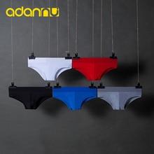 Men Underwear Briefs Tanga Male Panties U Convex Sexy Gay Cotton Cueca Quick-Dry Solid