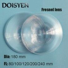 цены Fresnel Lens For Car Headlight  Diameter 180 mm Focal length 80/100/120/200/240 mm Fresnel lens for DIY Projector Fresnel Lens