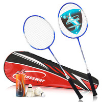 CROSSWAY 2Pcs Quality Badminton Rackets Set Family Double Professional Badminton Racquet And Badminton bag Sports Racket