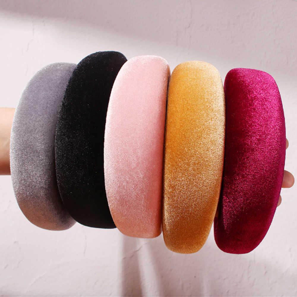 Accessoires de cheveux Satin bandeau pour femmes couleur unie en plastique cheveux cerceau filles éponge anti-dérapant rembourré bandeaux bandeau