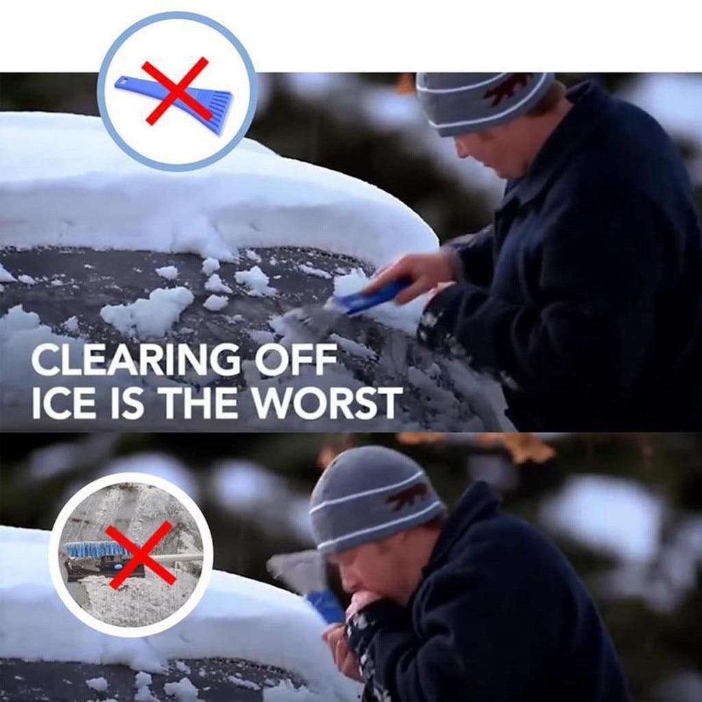 Скребок для льда Полезная машина для удаления снега на лобовом стекле Волшебная Лопата для льда в форме конуса Воронка инструмент для удаления снега скребок один круглый 39