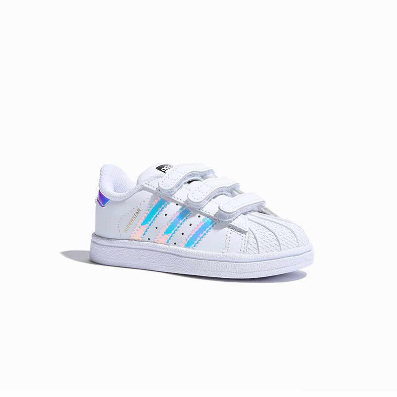 Оригинальные детские кроссовки для скейтбординга от суперзвезды Адидас, анти-скользкие спортивные кроссовки # AQ6280