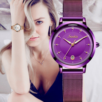 Sunkta relógios femininos de luxo malha cinto feminino relógio de quartzo relógio de pulso das senhoras da forma reloj mujer relogio feminino Relógios femininos     -