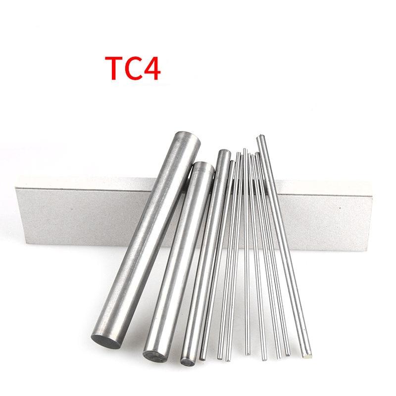 1pcs Length 150mm TC4  Titanium Ti Bar Grade Wire Stick GR5 Metal Rod Diameter 18mm-30mm For Turbine Manufacturing aerospace