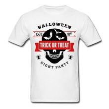 Camiseta masculina de algodão camiseta masculina festa de halloween-truque ou deleite masculina camiseta homme t-shirt tamanhos grandes