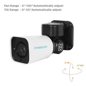 Image 5 - Inesun caméra de surveillance extérieure PTZ IP PoE Super HD 5MP, dispositif de sécurité, étanche IP66, avec Zoom optique x4 2560x1920, vision nocturne infrarouge 120 pieds