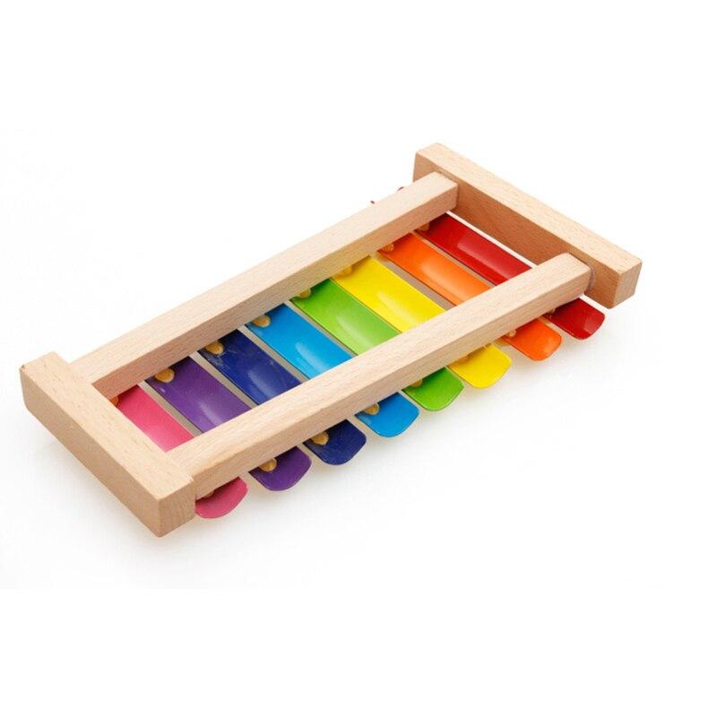 Новинка 2021, игрушечный ксилофон Монтессори, обучающая игрушка, деревянный ксилофон в виде восьми нот с рамкой, детские музыкальные смешные игрушки для детей 6