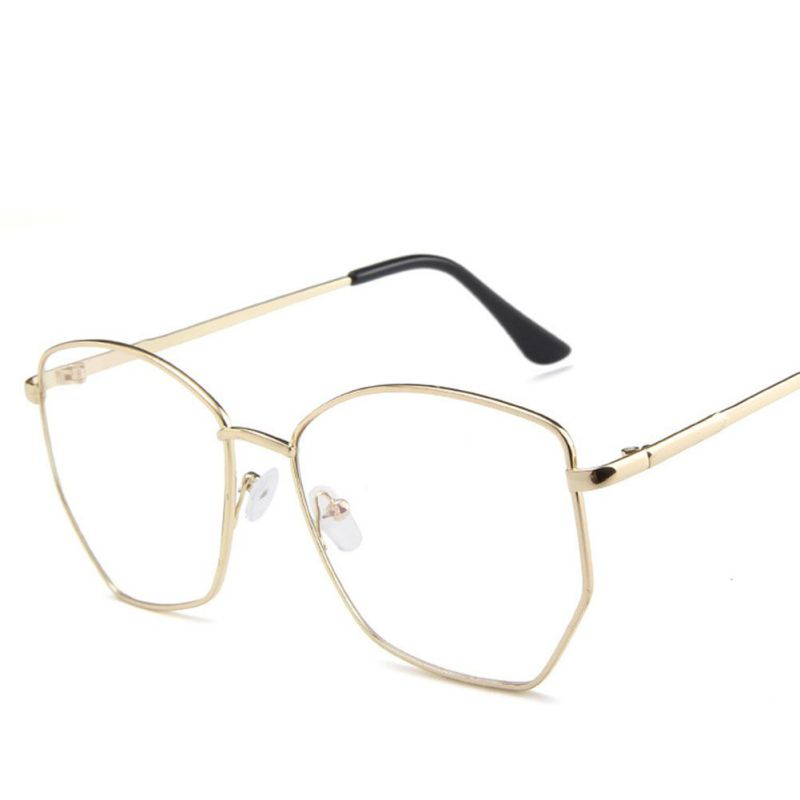 Eyewear Women Style Eye Glasses High Quality Fashion Irregular Polygon Frame For Women Men Fashion Brand Designer I
