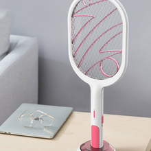 Mosquito Swatter Racket Electric-Fly-Insect-Racket-Zapper Killer Rechargeable Led-Light