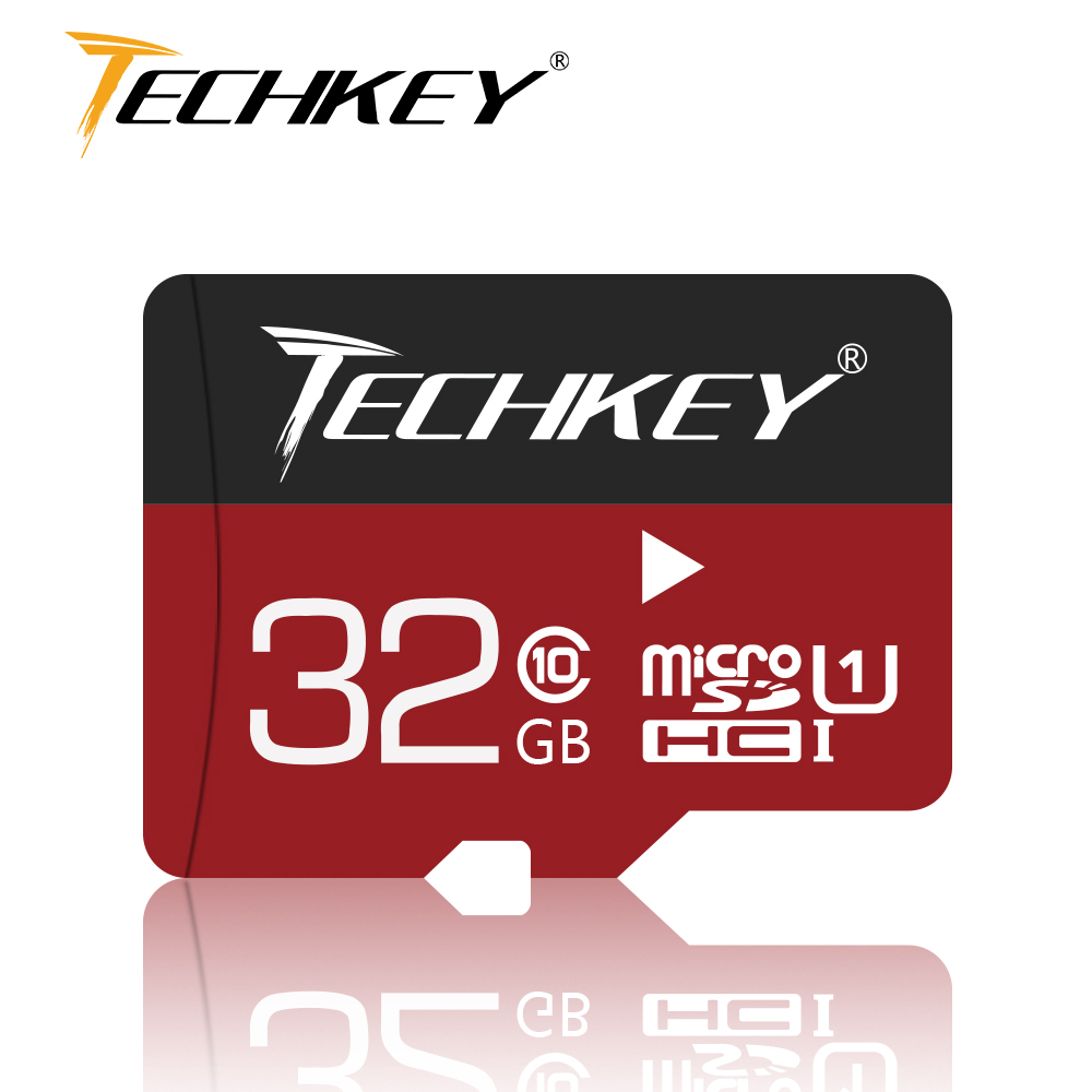 New Micro Sd Card 32GB 64GB 128GB TECHKEY Class10 Microsd TF Card 16GB 8GB TF Memory Card External Disk For Smart Phone Camera