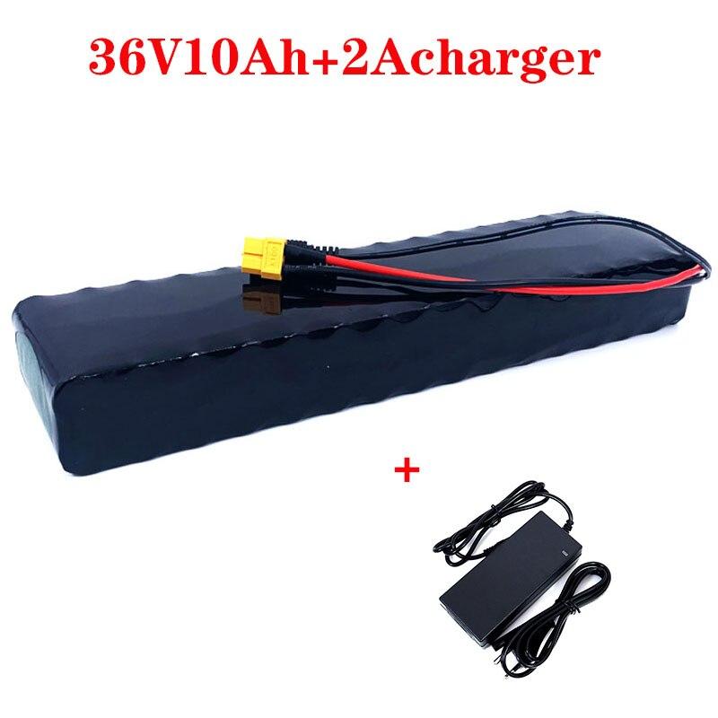 Е-байка 36В 10Ah 10S3P батареей 36В 600 Вт 42В 18650 аккумуляторная батарея для зарядки Ноута и сотового телефона Xiaomi M365 Pro, фара для электровелосипеда в велосипед скутер с 20A БМС + 2Acharger