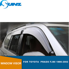 Black car door visor For Toyota  prado Fj90 1996-2002 Window deflectors accessories SUNZ