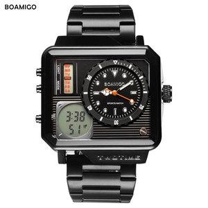 Image 5 - 2019 nowych moda BOAMIGO Top marka luksusowy męski zegarek 30m wodoodporny zegar z automatyczną datą męskie zegarki mężczyźni cyfrowy zegarek na co dzień