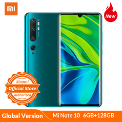 Xiaomi Mi Note 10 Global Version 6GB 128GB Smartphone 108MP Penta Camera Snapdragon 730G 6.47