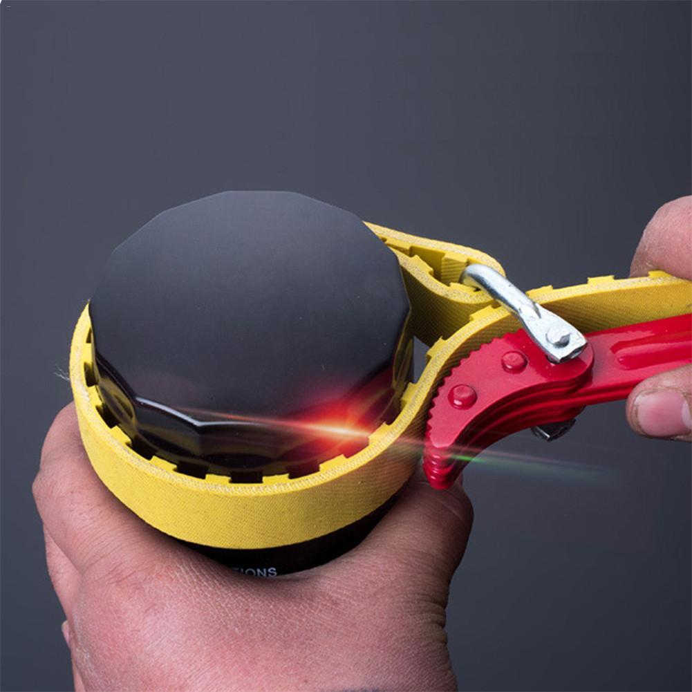 1 unidad llave de cinturón de coche correa de filtro de aceite llave de cadena llave de aceite cartucho de filtro de desmontaje herramienta de reparación de coche