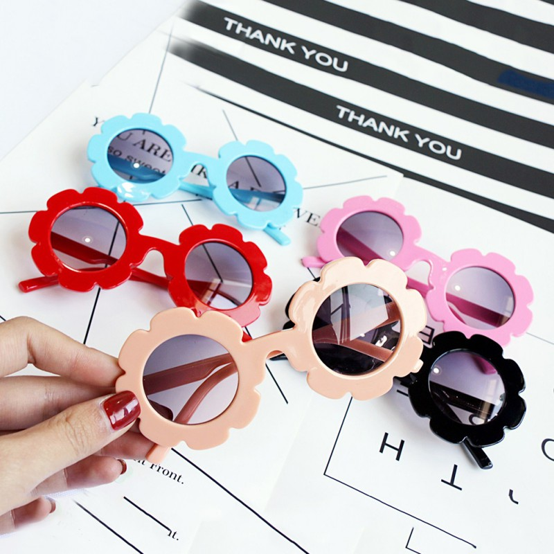 Baby Toys Vintage Kids Beach Toy Child Sun Glasses Round Flower Baby Children Sport Sunglasses Girls Boys Hot