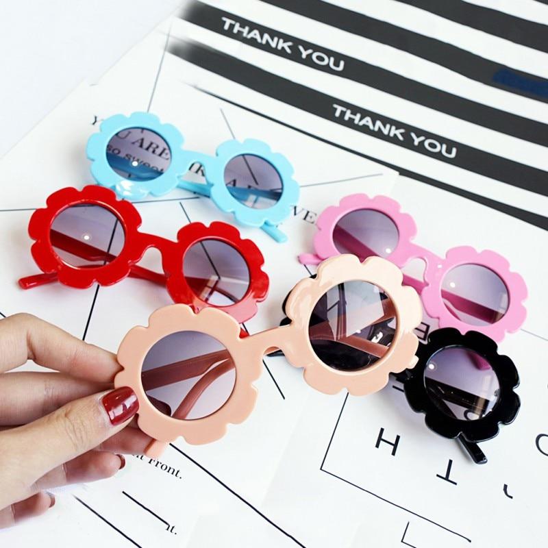 Baby Toys Vintage Kids Beach Toy Child Sun Glasses Round Flower Baby Children Sport Sunglasses Girls Boys Hot