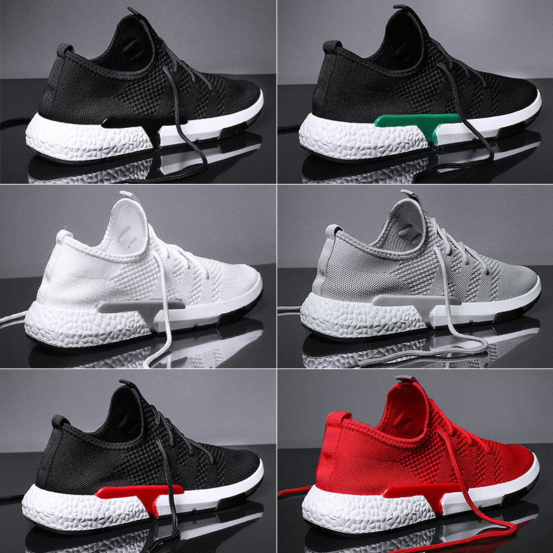 Летняя мужская повседневная обувь модная дышащая обувь на плоской подошве со шнуровкой прогулочная обувь для мужчин уличные кроссовки ...