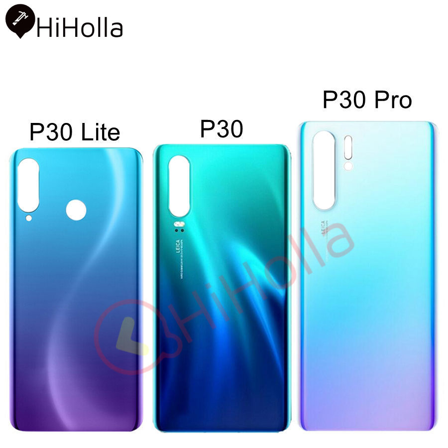 Rear Glass For Huawei P30 Pro Back Glass Battery Cover Door Housing VOG-L29 ELE-L29 Battery Panel For Huawei P30 Lite Back Cover