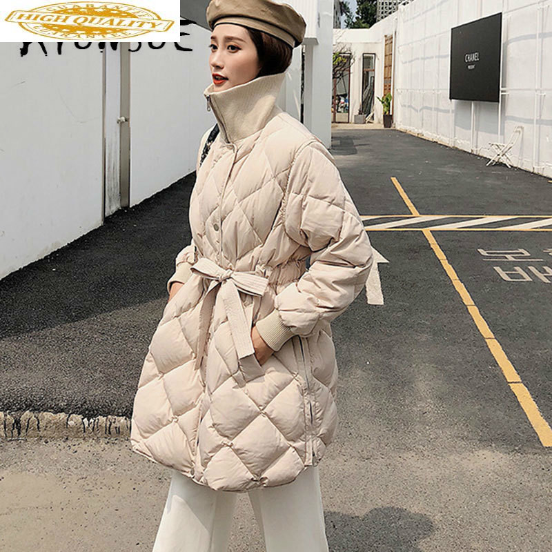 White Duck Down Jacket Women Clothes 2019 Winter Coat Women Korean Stand Collar Puffer Jacket Women Warm Parka G8080 YY2174