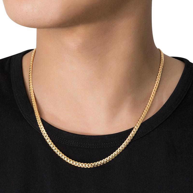 Silber Gold Kubanischen Kette Halskette Ketten Link Männer Choker Edelstahl Halsketten Männlich Weiblich Zubehör Geschenk Schmuck Großhandel