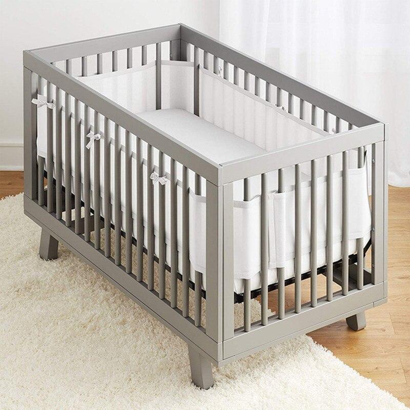 2 pçs cama do bebê pára-choques malha respirável bebê conjuntos de cama infantil berço infantil decoração do quarto 320 + 150cm