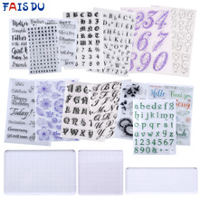 DIY Alphabet Greeting Cookie Cutter Pattern Embosser Stamp Sticky Famliy Member Holiday Party Decorating Fondant Cake Tools