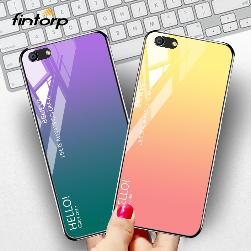 Tempered Glass Case For OPPO A83 A3 A5 A3S F3 Find X R15 Mirror Cases Luxury Silicone Phone Cover for Vivo V9 Y79 X21i Case image
