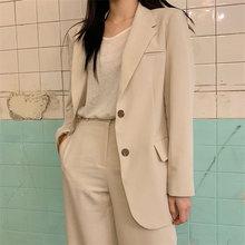 HziriP Office Ladies Elegant Ventilation Single Breasted High Street Loose Coat Feminine All Match S