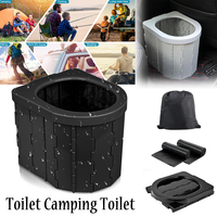 Abs plastic portable outdoor folding toilet car travel emergency integrated toilet self-driving tour outdoor camping toilet