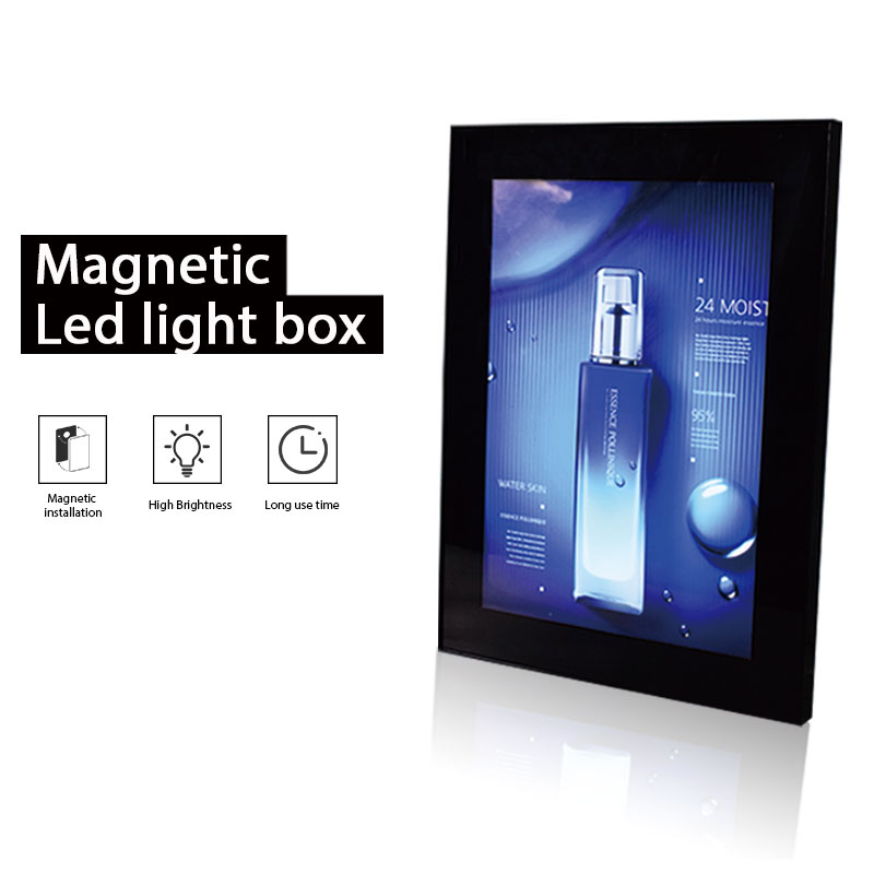 A1 <font><b>A2</b></font> A3 A4 Magnetic Snap Frame Led <font><b>Light</b></font> <font><b>Box</b></font> Advertising Aluminium Restaurant Menu Board Signboard Backlit Poster Frame Outdoor image