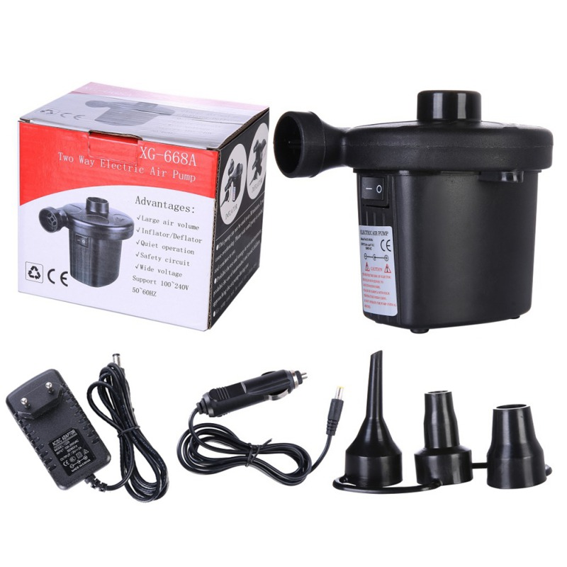 Mattress Inflator Boat Air-Pump Electric Portable Camping Car for New title=
