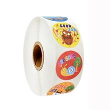 500pcs/roll scrapbook stickers round animal cute for reward children kindergarten decoration sticker