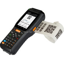 4G Android 13.56HZ Handheld RFID reader 2D Image QR Barcode Scanner Industry Handheld Terminal With printer(2D version)(China)